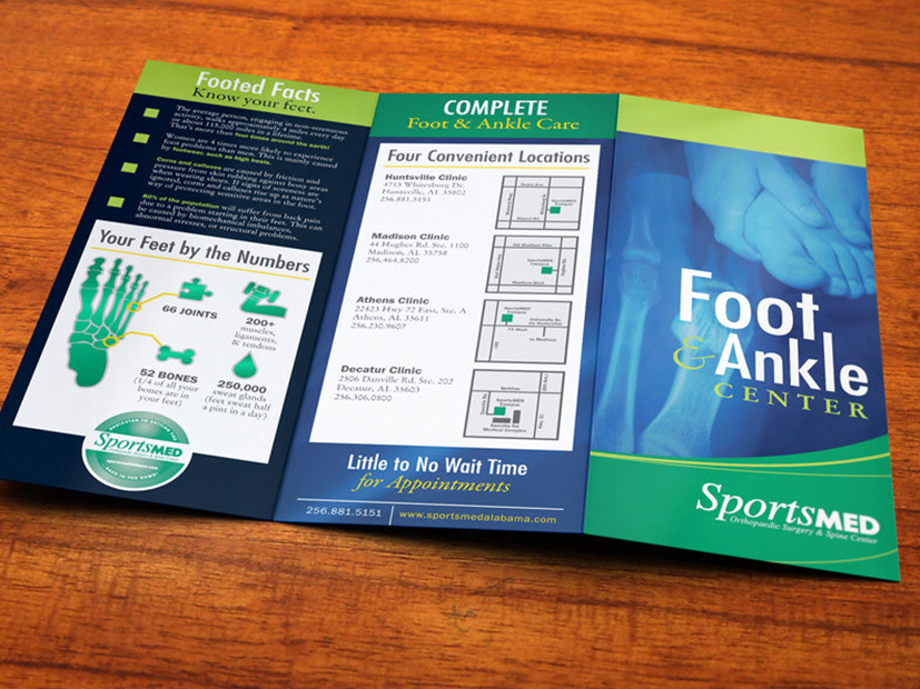 sportsmed foot ankle print trifold